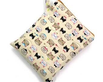 SALE 20% OFF Cat Wet bag, swim suit bag, Bikini bag, Diaper bag, Bathing suit bag, wet dry bag, Travel bag, Gift