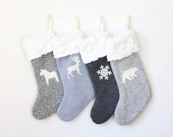 Personalized Stocking | Christmas Stockings | Decorative Xmas Stocking | Monogram Initial Stocking {Christmas Stocking: Choose Your Fabric}