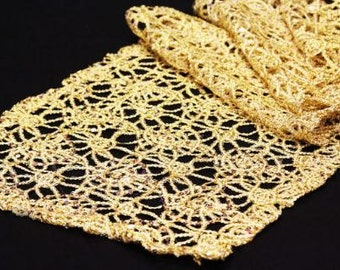 Lace Table Runner, Gold Lace Table Runner, Wedding Table Runner, Lace Tablecloth, Lace Table Cloth, Lace Table Overlay, Lace Table Topper