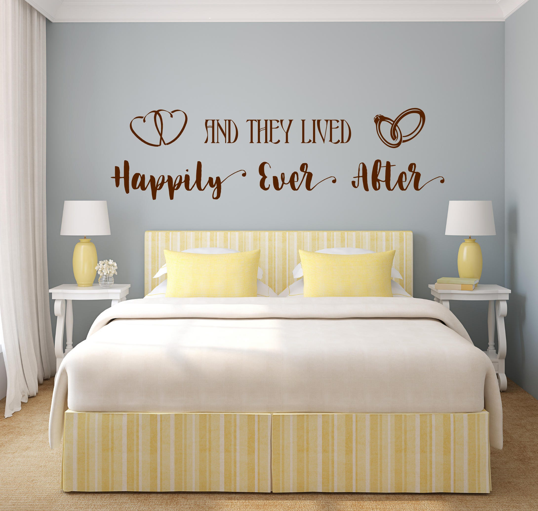 Incroyable Happily Ever After Decal, Happily Ever After Sign, Bedroom Wall Decal,  Master Bedroom Decal, Happy Together, Wedding Gift, Newlywed Gift