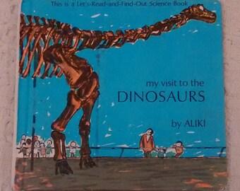 My Visit to the Dinosaurs, Aliki Book, Aliki Author, Childrens Dinosaur Book, Dinosaur Book for Kids, Vintage Childrens Book