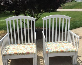 Upcycled Crib Chairs