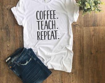 Womens TShirt | Teacher Shirt | Back to School shirt | Teacher Gift | Teacher Life | This Teacher Runs on | Teacher Life Shirt |
