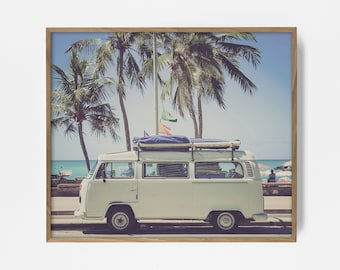 VW Van, VW bus, VW bug, Hippie Van Print, Retro Print, bus print, bus art, Retro Bus Print, Retro Bus Art, Vintage Photo, surf art, 60 decor