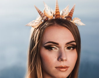 Shell crown mermaid tiara mermaid crown Beach Wedding Crown Starfish Crown Mermaid Sea Costume Headband Wedding Headpiece beach jewelry