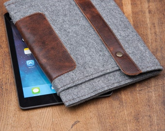 Grey Felt Samsung Galaxy Tab S3 Case. Samsung galaxy tab a 10.1 case. galaxy tab a case. Galaxy tab s2 case.