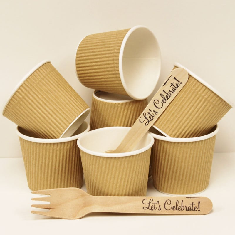 ?zoom & 20 Brown Kraft Ripple Cups 4 oz. Paper Cups Coffee Cup Hot
