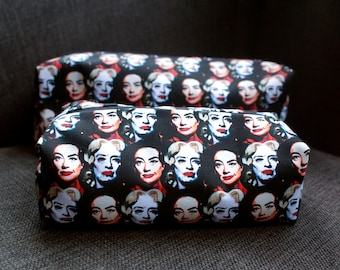 Whatever Happened to Baby Jane illustrated make-up bag/pencil case, ft Bette Davis and Joan Crawford!