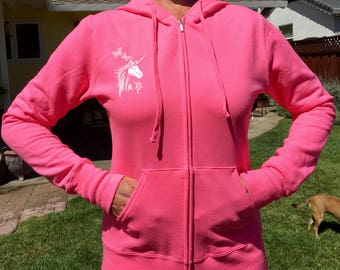 Pink Magical Unicorn Hooded Sweatshirts