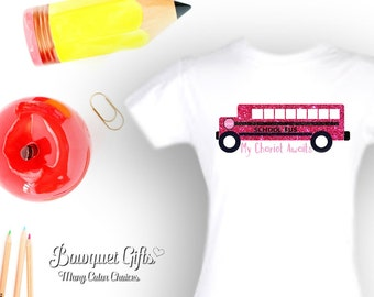 Preschool Girls Outfit- School Bus- Girls Outfit-My Chariot
