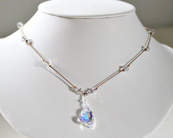 Special Gift,For Daughter,15th Anniversary Gift,For Wife,Swarovski Heart,Necklace,Crystal Anniversary,Gift,For Wife,Romantic Gift,For Her