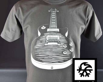 T-shirt Gibson Les Paul guitar rock Illustration by Waveslide