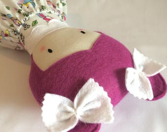 Little Pink Haired Doll * Cloth Doll * Rag Doll * Fabric Doll * Handmade Doll * Cute Doll * Girls Gift * Baby Gift