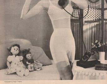 1950s Vintage Girdle Ad