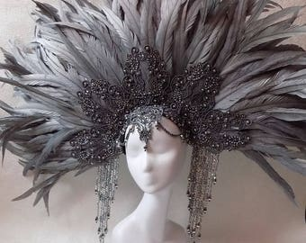 "Headdress ""White Night"""