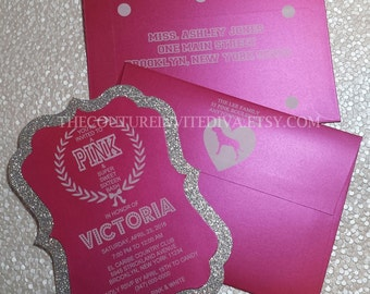 Hot PINK Sweet Sixteen Invitation | Bachlorlette Party Invitation | Bridal Shower Invitation | Bat Mitzvah Invitation