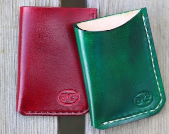 Leather front/back pocket card wallet