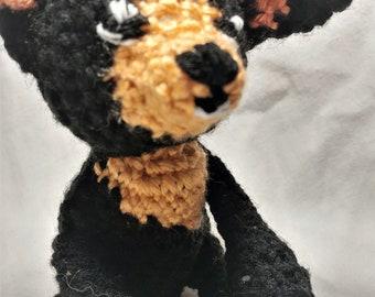 Stuffed Animal - Chihuahua - Amigurumi Crocheted Doll - HANDMADE STUFFED DOG
