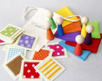Busy Bags, Montessori, Easter Basket Gifts,Montessori Toys,Toddler,Easter kids, Peg Dolls + Memory Game,Montessori Pratical Life,Kids Gift