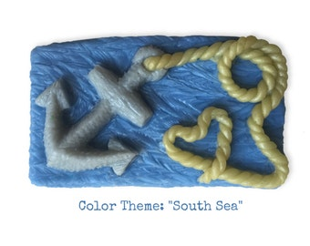 Nautical Themed Bathroom Decor    Soap Art    Anchored With Love Hand-Sculpted Limited Edition Goats Milk Soap    Coastal Art Gift