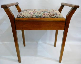 Piano Bench / Dressing Table Stool With Storage - Reconditioned