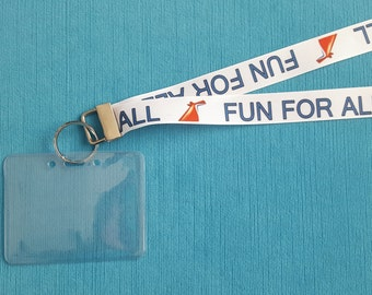 Lanyard - Fun for All - for Carnival Cruise - Non-scratchy - Child or Adult