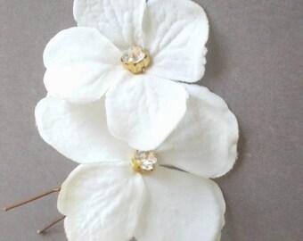 ON SALE Elegant Bridal Blossom Hair Pins. Rhinestone Hair Jewelry GIFT... Chic Prom. Bride Maid Gift. Bridal Shower Gift. Flower Girl. Holid