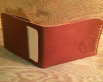 Mens leather wallet, slim leather wallet, Bifold wallet, minimal leather wallet