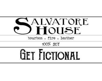 Salvatore House {The Vampire Diaries} Soy Candle