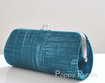Painters Canvas in Ocean..Small Clutch Purse