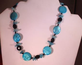Aqua Black Necklace
