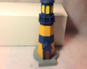Vintage Lighthouse nicely made and painted by hand