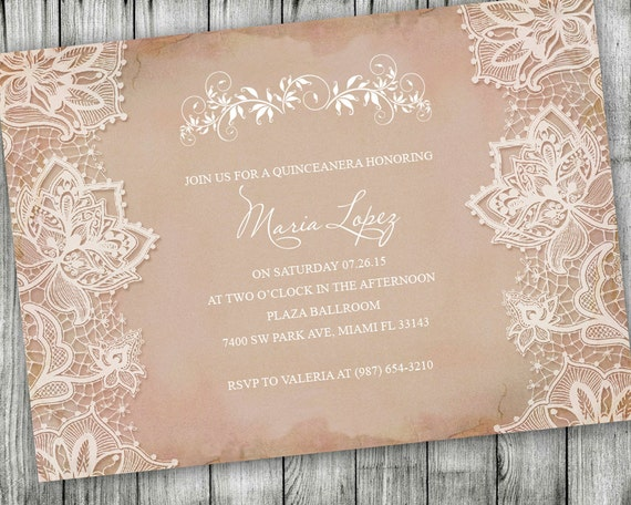 Quinceanera invitations 15th birthday party invitation like this item solutioingenieria Images