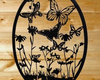 Butterfly Garden Wall Art - Laser Cut