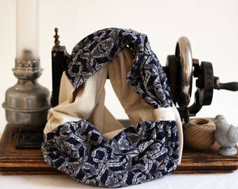 "Snood double ""Good Morning"" par Violette et Grenadine"