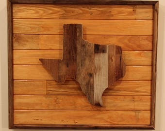 Rustic Texas Wall Hanging with LED Lighting.