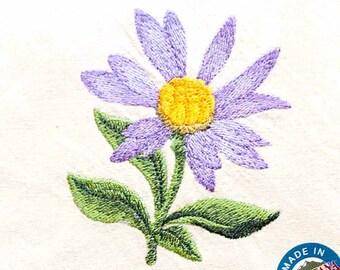 Aster Tea Towel | Embroidered Kitchen Towel | Personalized Kitchen Towel | Embroidered Towel | Embroidered Tea Towel | Bath Decor