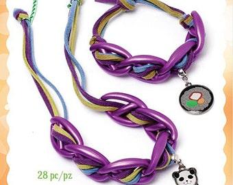 Panda & Sushi 28 Piece necklace and bracelet kit