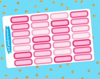 Pink Quarter Labels (R014)