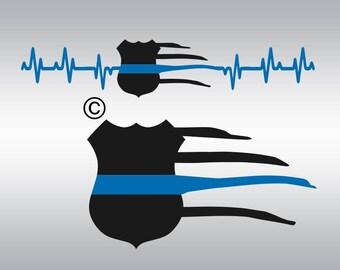 Police badge svg, Thin blue line svg, Law enforcement svg, American flag svg, Police svg, Back the blue svg, Clipart, Svg, DXF, Png, Eps