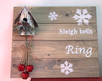 Winter Wooden Sign