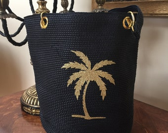 Women's handbag, summer handbag, nautical bag, beach bag, wedding bag, coastal bag, bridal bag, evening bag, black evening bag