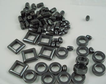 Destash Non-magnetic Hematite Beads, Mixed Shapes and Sizes