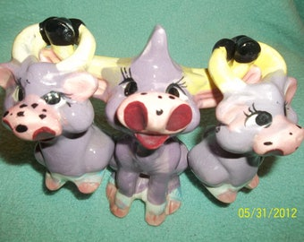 purple cow salt and pepper shakers japan