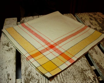 Finlayson Orange and Yellow Woven Tablecloth
