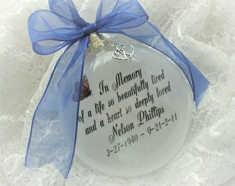 In Memory Ornament Free Personalization and Charm, In Memory of a Life So Beautifully LIved
