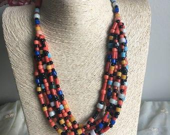 BOHEMIAN Multi Color Beads Necklace