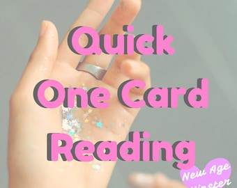 Quick One Card Tarot or Oracle Reading | Super Quick Reading when you need it most x