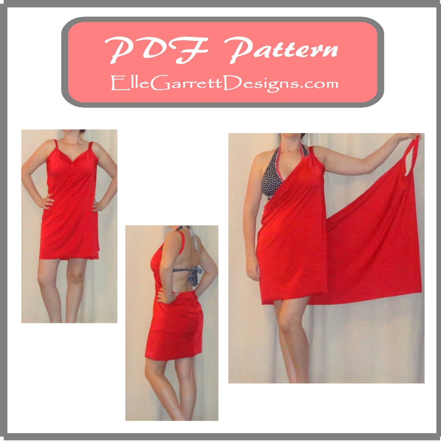 PDF Pattern Simple Beach Cover-Up Pattern 501 Sizes