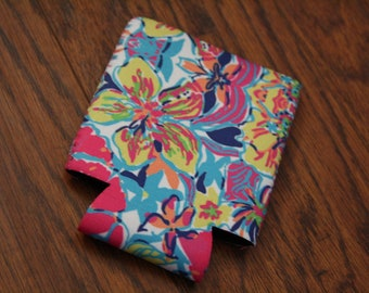 Lilly Inspired can insulator | beverage insulator | can Insulator | can holder | Neopene holder | Beverage | Lilly inspired